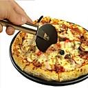 זול כלי אוכל-1 PC חותך פיצת נירוסטת צורה עגולה גלגלי פיצה חותכים כלי פיצה חותכת סכין עגול לחם עוגה