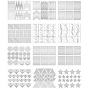 cheap Nail Stickers-Diecut Manicure Stencil DIY Mold Nail Stamping Template Daily Fashion High Quality
