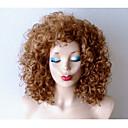 billige Kornpærer med LED-Syntetiske parykker Krøllet Blond Syntetisk hår Mørke røtter / Naturlig hårlinje Blond Parykk Dame Mellemlængde Lokkløs