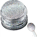 cheap Nail Glitter-1 bottle nail art laser silver glitter shining powder manicure decoration nail beauty l03
