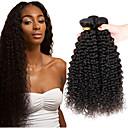 cheap One Pack Hair-3 Bundles Indian Hair Afro / Kinky Curly Virgin Human Hair Natural Color Hair Weaves / Hair Bulk 8-26 inch Human Hair Weaves Shedding Free / Tangle Free / Thick Hair End Human Hair Extensions
