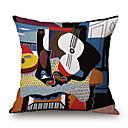 preiswerte Dekorative Kissen-Stück Baumwolle/Leinen Kissenbezug, Grafik-Drucke Texture Neuheit Freizeit Modern/Zeitgenössisch