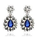 baratos Brincos-Mulheres - Fashion Azul Real Para Casamento Festa Diário / Diamante / Multi-Pedras / Zircão
