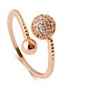 זול טבעות-בגדי ריקוד נשים טבעת הטבעת - אופנתי מתכוונן כסף / ורד / מוזהב עבור חתונה / Party / יומי / קזו'אל