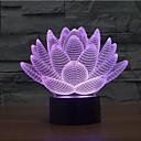 baratos Novidades em Iluminação-toque de flores de lótus escurecendo luz de luz led de diodo emissor de luz 7colorful decoração atmosfera lâmpada novidade luz de iluminação