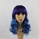 preiswerte Kostümperücke-Synthetische Perücken Große Wellen Synthetische Haare Gefärbte Haarspitzen (Ombré Hair) Lila Perücke Damen Lang New Purple