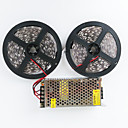 cheap LED Strip Lights-10m Light Sets 600 LEDs 5050 SMD Warm White / White Cuttable / Linkable / Suitable for Vehicles 100-240 V / Self-adhesive / IP44