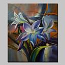 olcso Tájképek-Kézzel festett Virágos / Botanikus Függőleges,Modern Egy elem Vászon Hang festett olajfestmény For lakberendezési