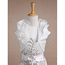 cheap Wedding Wraps-Short Sleeve Taffeta Wedding / Party Evening / Casual Kids' Wraps With Flower / Wave-like Shrugs