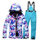abordables Guantes de Esquí-GQY® Mujer Chaqueta y pantalones de Esquí Impermeable, Mantiene abrigado, Resistente al Viento Esquí / Deportes de Invierno Poliéster