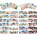 abordables Nail Art de Navidad-12 pcs Puntas Completas de Uña Joyas de Uñas arte de uñas Manicura pedicura Encantador Clásico / Dibujos Diario / Joyería de uñas