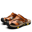 cheap Men's Sandals-Men's Leather Summer Sandals Walking Shoes Brown / Blue / Camel