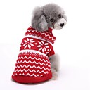 cheap Pet Christmas Costumes-Cat Dog Sweater Christmas Dog Clothes Stripe Red Blue Cotton Costume For Pets Men's Women's Cute New Year's