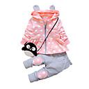 preiswerte Hosen für Jungen-Mädchen Kleidungs Set Alltag Baumwolle Frühling Herbst Langarm Zeichentrick Grau Fuchsia Rosa Lavendel