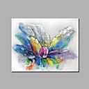 abordables Cuadros de Flores/Botánica-Pintura al óleo pintada a colgar Pintada a mano - Floral / Botánico Clásico Modern Lona