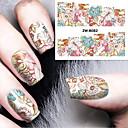 voordelige Nagelstickers-1 pcs Klassiek Wateroverdracht Sticker Nail Art Design Dagelijks