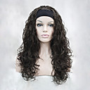 preiswerte Synthetische halbe Perücken-Synthetische Perücken Wellen Synthetische Haare Braun Perücke Damen Kappenlos Kastanienbraun Hivision