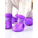 preiswerte Hundekleidung-Katze Hund Regenmantel Schuhe und Stiefel Lässig/Alltäglich Cosplay Wasserdicht Sport Solide Buchstabe & Nummer Rot Blau Rosa Grün Orange