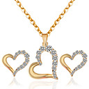 cheap Jewelry Sets-Women's Jewelry Set - Include Necklace / Earrings Gold For Wedding Party Daily / Casual