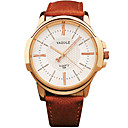 preiswerte Modische Uhren-YAZOLE Herrn Armbanduhr Armbanduhren für den Alltag / Cool / / Leder Band Freizeit Schwarz / Braun