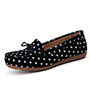 cheap Women's Boat Shoes-Women's Leather Spring / Summer Comfort Flats Walking Shoes Flat Heel Brown / Blue / Pink