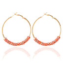 cheap Earrings-Women's Drop Earrings Hoop Earrings - Fashion Blue / Pink / Rainbow For Wedding