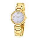 preiswerte Modische Uhren-REBIRTH Damen Armbanduhr Quartz Schlussverkauf / Legierung Band Analog Freizeit Modisch Schwarz / Gold - Gold Schwarz / Weiß Schwarz
