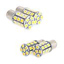 Недорогие Автомобильные светодиодные лампы-4x белый 1156 BA15s водить 27-СМД лампочки хвост резервного с.в. кемпер 1141