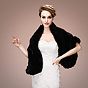cheap Wedding Wraps-Sleeveless Faux Fur Wedding / Party Evening Women's Wrap With Tiered Shawls