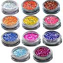 baratos Glitter para Unhas-1 pcs Jóias de unha / Glitter & Poudre / Pó Glitters / Clássico / Casamento Nail Art Design Diário / Glitter & Sparkle