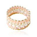 baratos Pulseiras-Mulheres Bracelete - Imitação de Pérola Pulseiras Branco / Rosa Para Casamento / Festa / Diário / Casual