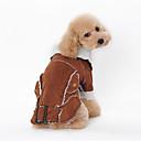זול אביזרים לגברים-כלב מעילים בגדים לכלבים חיה קפה חום כחול עור כותנה למטה תחפושות עבור חיות מחמד בגדי ריקוד גברים בגדי ריקוד נשים Keep Warm