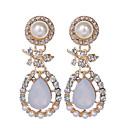 preiswerte Modische Ohrringe-Damen Perle Tropfen-Ohrringe - Perle, Künstliche Perle, Strass Tropfen Luxus, Retro, Europäisch Gold Für Party / Alltag / Normal / vergoldet / Diamantimitate