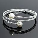 cheap Jewelry Sets-Women's - Imitation Pearl, Silver Strand, Tennis, Round Bangles Bracelet Silver For Wedding Party Special Occasion / Anniversary / Engagement / Gift / Daily / Casual