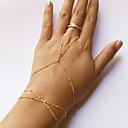 ieftine Brățări la Modă-Pentru femei Ștrasuri Ring Bracelets - stil minimalist, Modă, Cute Stil Brățări Auriu Pentru Zilnic Casual