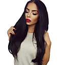 cheap Human Hair Wigs-Human Hair U Part Wig Straight / Yaki Wig 130% Natural Hairline / African American Wig / 100% Hand Tied Women's Short / Medium Length / Long Human Hair Lace Wig