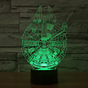 cheap Night Lights-Millennium Falcon 3D LED Night Light 7Colorful Decoration Atmosphere Lamp Novelty Lighting Light