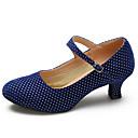 abordables Pendientes-Mujer Zapatos de Baile Latino / Zapatos de Baile Moderno Ante Tacones Alto Hebilla Tacón Stiletto Personalizables Zapatos de baile Negro / Rojo / Azul / Interior / Entrenamiento