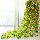baratos Flor artificiali-Flores artificiais 1 Ramo Pastoril Estilo Girassóis Guirlandas & Flor de Parede