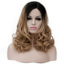 cheap Totes-Synthetic Wig Women's Curly Brown Synthetic Hair Brown Wig Medium Length Capless Light Brown
