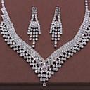 abordables Brazaletes-Mujer Conjunto de joyas Moda Incluir Collar / pendientes Plata Para Boda Fiesta