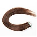 abordables Cierre y Frontal-Adhesivo Extensiones de cabello humano Recto Extensiones Naturales Cabello humano Cabello Brasileño Mujer