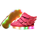 preiswerte Jungenschuhe-Mädchen Schuhe Kunstleder Frühling Komfort / Leuchtende LED-Schuhe Sneakers Walking Klettverschluss / LED für Rot / Blau / Rosa