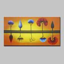 hesapli Üst Sanatçı-Hang-Boyalı Yağlıboya Resim El-Boyalı - Çiçek / Botanik Modern Tuval / Gerilmiş kanvas