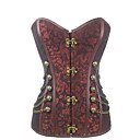 cheap Synthetic Wigs-Women's Hook & Eye Plus Size Overbust Corset-Jacquard