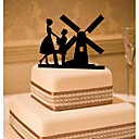 cheap Cake Toppers-Cake Topper Classic Theme Classic Couple Acrylic Wedding with Flower 1pcs Gift Box