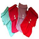 abordables Ropa para Perro-Perro Vestidos Ropa para Perro Un Color Morado Rosa Rojo Azul Claro Lana Polar Disfraz Para mascotas Hombre Mujer Casual/Diario Moda