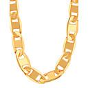preiswerte Intelligente Verschlusstechnik-Herrn / Damen Figaro Kette Ketten - vergoldet Modisch Golden Modische Halsketten Für Party, Alltag, Normal
