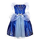 olcso Lány ruhák-Alkalmi Pamut Poliészter Nyár Rövid ujjú Lány Ruha Elegáns ruházat Csokor Kék