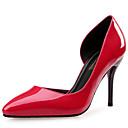 abordables Tacones de Mujer-Mujer Zapatos Cuero Patentado Primavera Otoño Confort Tacones Tacón Stiletto Dedo Puntiagudo Para Vestido Fiesta y Noche Negro Rojo Azul